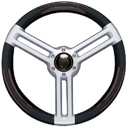 Uflex Steering Wheel Black Silver Doriabb