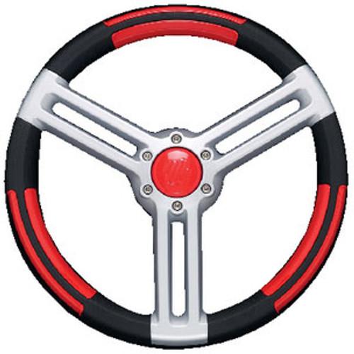 Uflex Steering Wheel Black Red Silver Doriabr