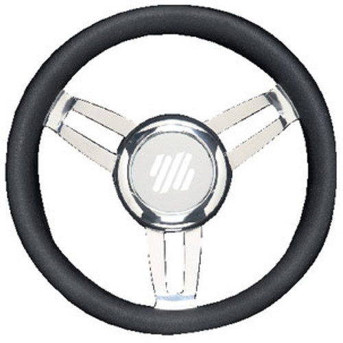 Uflex Steering Wheel Black Vinyl Chrom Foscarivchb