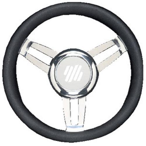 Uflex Steering Wheel Black Vinyl Chrom Foscarivchb