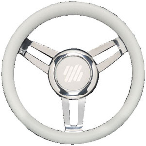 Uflex Steering Wheel White Vinyl Chrom Foscarivchw