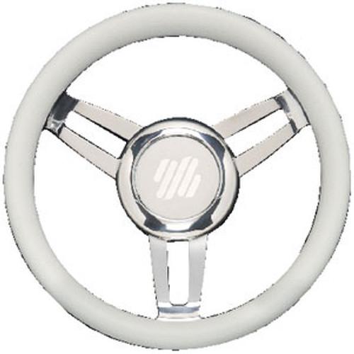 Uflex Steering Wheel White Vinyl Chrom Foscarivchw