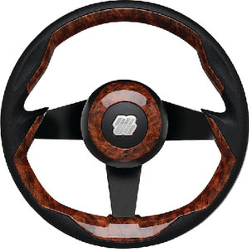 Uflex Steering Wheel-Burl Grip Black Spk Grimani Br/B