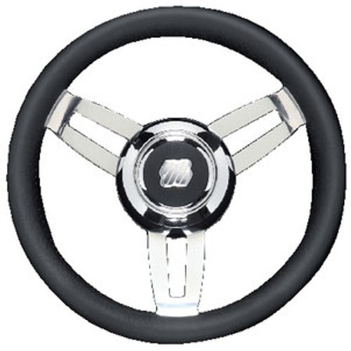 Uflex Steering Wheel Black Poly Chrome Morosini U/Ch/B