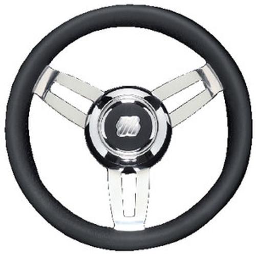 Uflex Steering Wheel Black Poly Chrome Morosini U/Ch/B