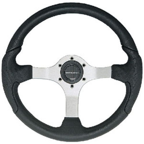 Uflex Steering Wheel Silver Black Grip Nisidabs
