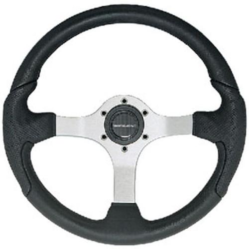 Uflex Steering Wheel Silver Black Grip Nisidabs