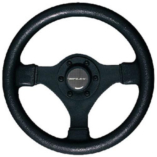 Uflex Steering Wheel-Black 3-Sp Softgrip V45