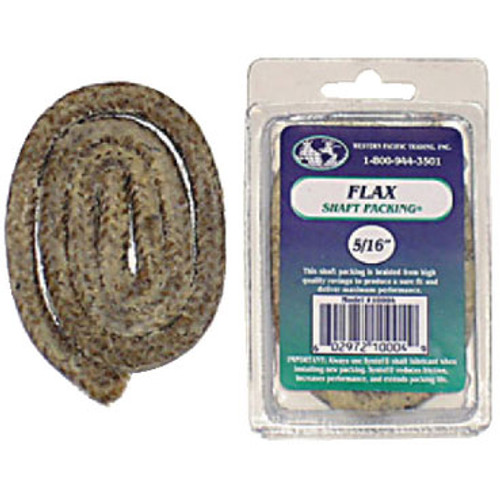 "Western Pacific Trading Flax Packing 3/16"" x 2' Retail 10002"
