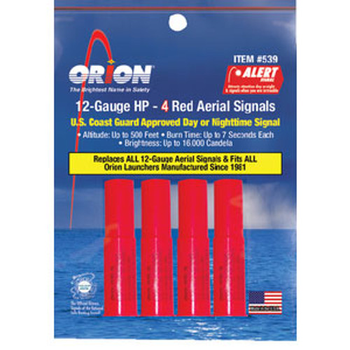 Orion Safety Products Hp 4-Pack 12 Gauge Red Aerial 539