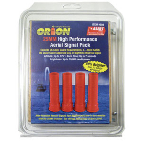 Orion Safety Products 25 MM Red Aerial Flare 4 Pk 589
