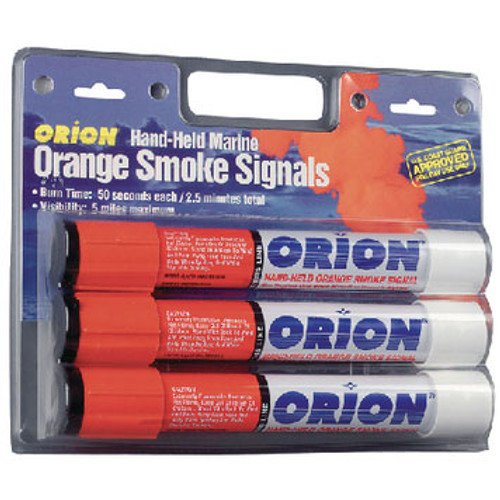 Orion Safety Products Hand Held Orange Smoke 3/Card 958