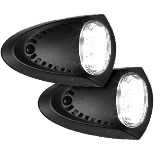 Attwood Marine LED Sm Dock Lt Black P 1 Pr/Pk 6523Bk7