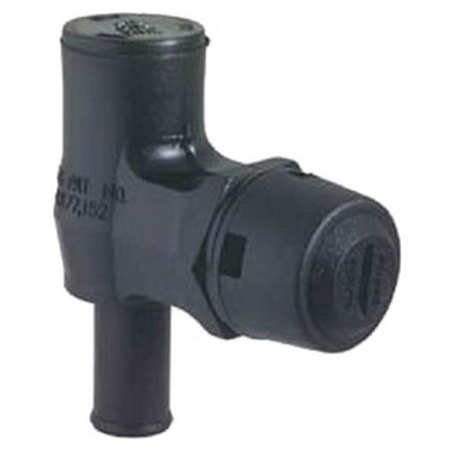 Attwood Marine 90 Deg Fl Tank Vent with Black Cap 1670-1