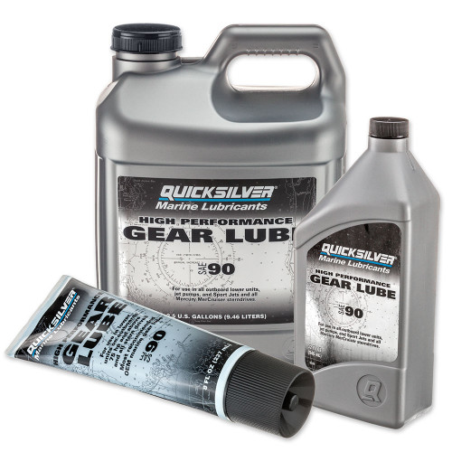 OEM MerCruiser Quicksilver High-Performance SAE90 Gear Lube 92-858064Q01 92-858065Q01