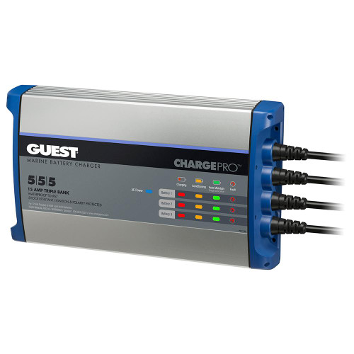 Guest On-Board Battery Charger 15A / 12V - 3 Bank - 120V Input 2713A