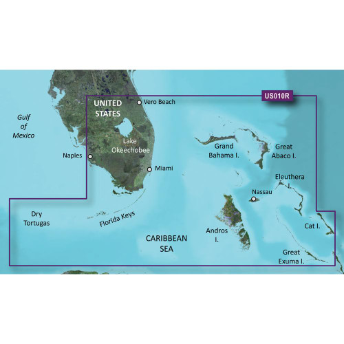 Garmin BlueChart g2 Vision HD - VUS010R - Southeast Florida - microSD/SD 010-C0711-00