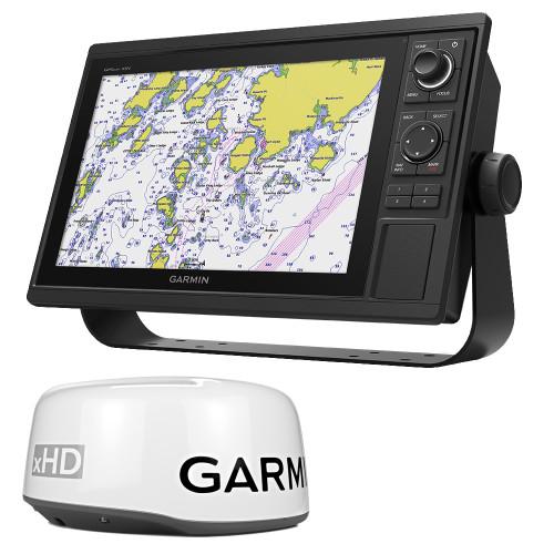 Garmin GPSMAP 1242xsv Keyed Networking Combo - No Transducer w/GMR 18XHD Bundle