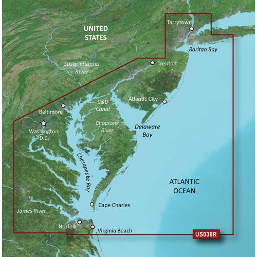 Garmin BlueChart g2 Vision HD - VUS038R - New York - Chesapeake - microSD/SD 010-C1004-00