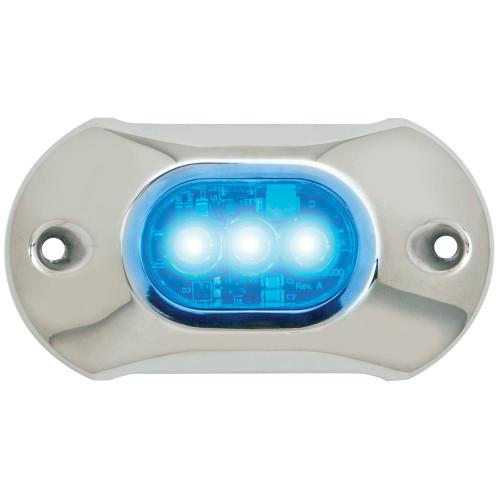 Attwood Light Armor Underwater LED Light - 3 LEDs - Blue 65UW03B-7