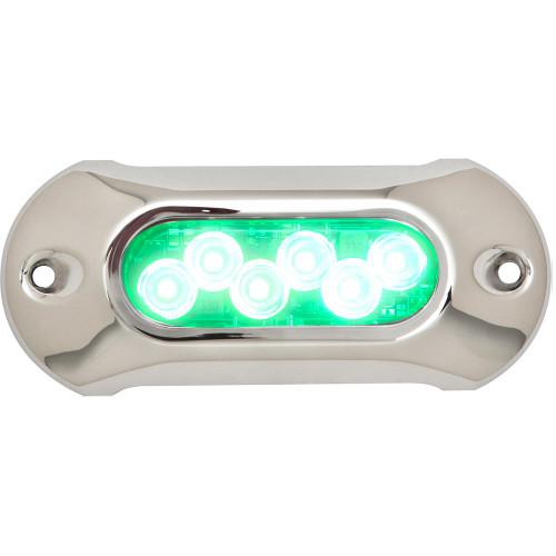 Attwood Light Armor Underwater LED Light - 6 LEDs - Green 65UW06G-7