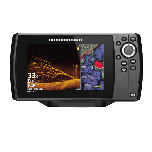 Humminbird HELIX 7 CHIRP MEGA DI Fishfinder/GPS Combo G3N w/Transom Mount Transducer
