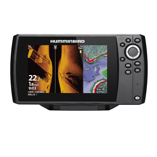 Humminbird HELIX 7 CHIRP MEGA SI Fishfinder/GPS Combo G3 w/Transom Mount Transducer