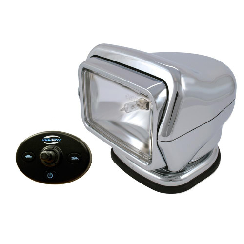 Golight Stryker Searchlight 12V - Wired Dash Control w/ 20' Wire Harness - Chrome 3026