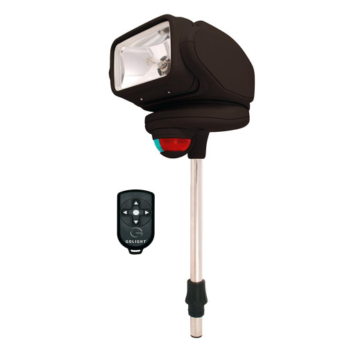 Golight Gobee Stanchion Mount w/Wireless Remote - Black 2151