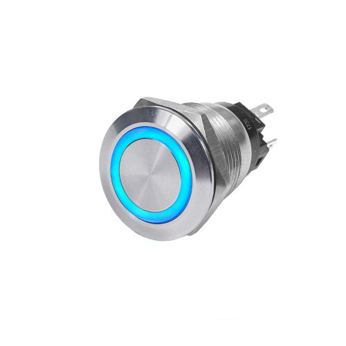 Blue Sea 4160 SS Push Button Switch - Off-On - Blue - 10A 4160
