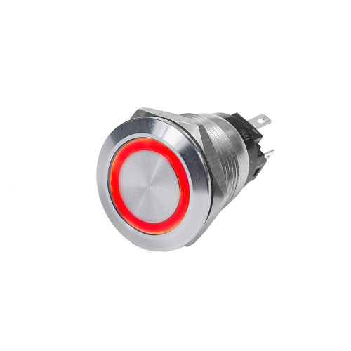 Blue Sea 4162 SS Push Button Switch - Off-On - Red - 10A 4162