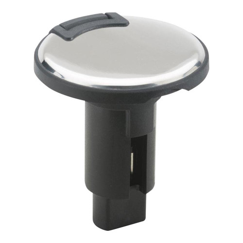 Attwood LightArmor Plug-In Base - 2 Pin - Stainless Steel - Round 910R2PSB-7