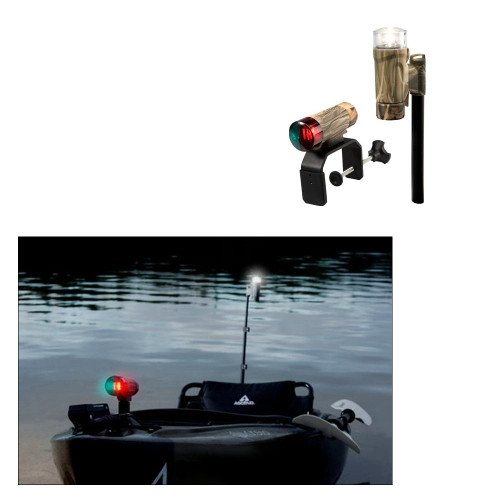 Attwood PaddleSport Portable Navigation Light Kit - C-Clamp, Screw Down or Adhesive Pad - RealTree Max-4 Camo