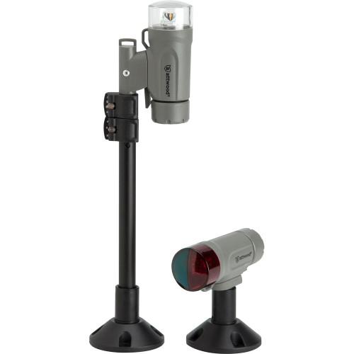 Attwood PaddleSport Portable Navigation Light Kit - Screw Down or Adhesive Pad - Gray