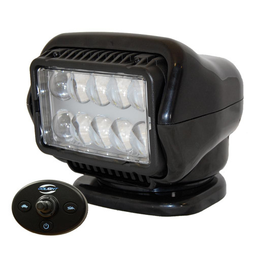 Golight LED Stryker Searchlight w/Wired Dash Remote - Permanent Mount - Black 30214
