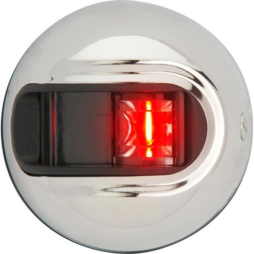 Attwood LightArmor Vertical Surface Mount Navigation Light - Port (red) - Stainless Steel - 2NM NV3012SSR-7