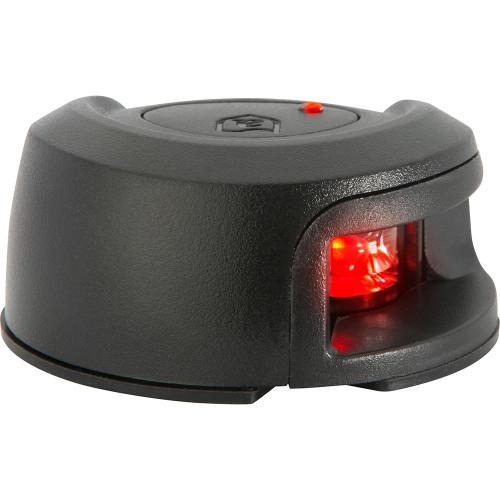 Attwood LightArmor Deck Mount Navigation Light - Black Composite - Port (red) - 2NM NV2012PBR-7