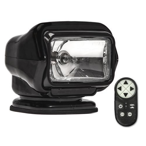 Golight Stryker ST Series Portable Magnetic Base Black Halogen w/Wireless Handheld Remote