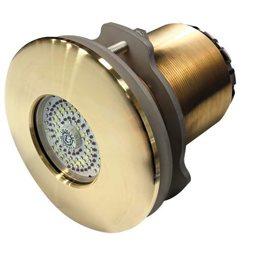 Lumitec SeaBlaze Typhoon Underwater Light - Bronze Thru-Hull - Spectrum RGBW - Flush Mount