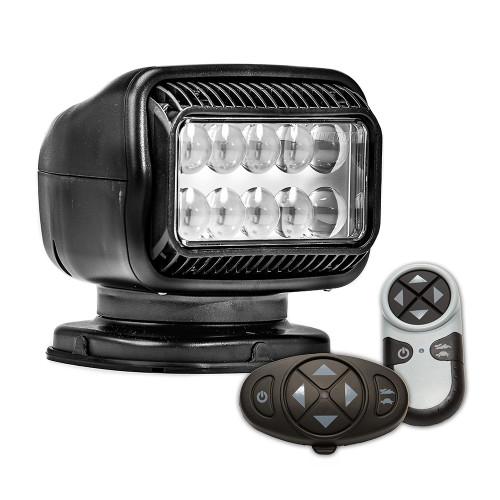 Golight Radioray GT Series Permanent Mount - Black LED - Wireless Handheld & Wireless Dash Mount Remotes
