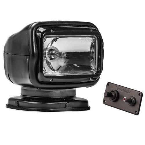 Golight Radioray GT Series Permanent Mount - Black Halogen - Hard Wired Dash Mount Remote