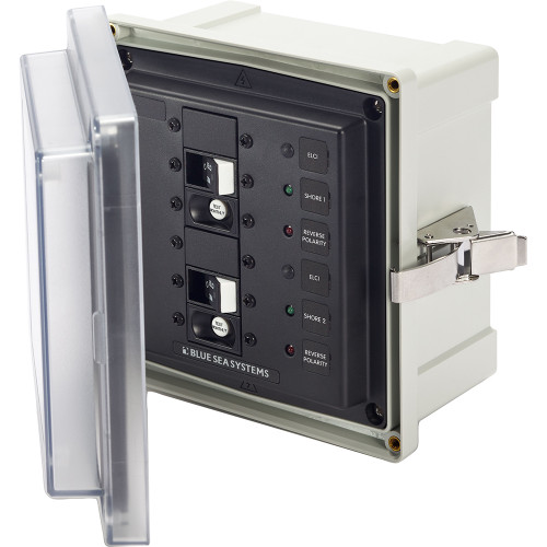Blue Sea 3117 SMS Surface Mount System Panel Enclosure - 2 x 120V AC / 30A ELCI Main 3117