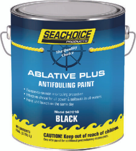 SeaChoice Boat Marine BLACK Ablative PLUS Antifouling Bottom Paint GALLON 94701G