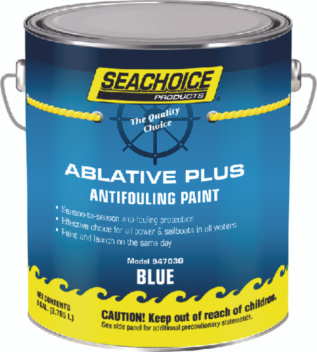 SeaChoice Boat Marine BLUE Ablative PLUS Antifouling Bottom Paint GALLON 94703G
