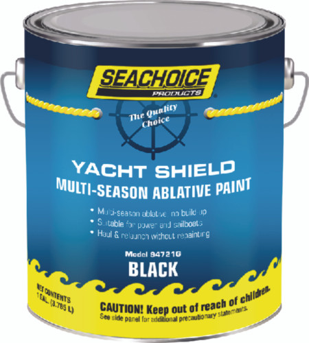 SeaChoice Boat BLACK Yacht Shield Multi-Season Antifouling Bottom Paint Gallon 94721G