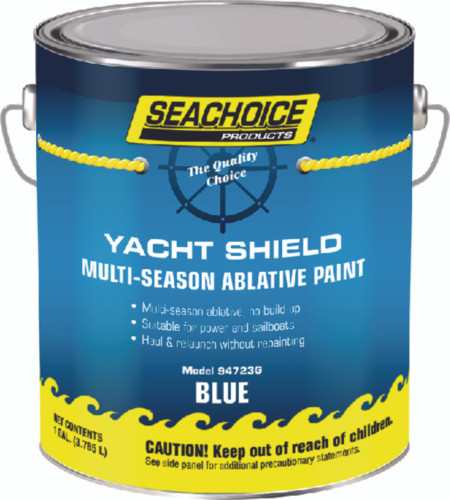 SeaChoice Boat BLUE Yacht Shield Multi-Season Antifouling Bottom Paint Gallon 94723G