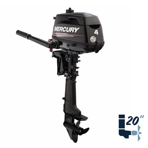 """New Mercury 4MLH 20"""" Shaft Four Stroke Tiller Outboard 1F04211KK"""