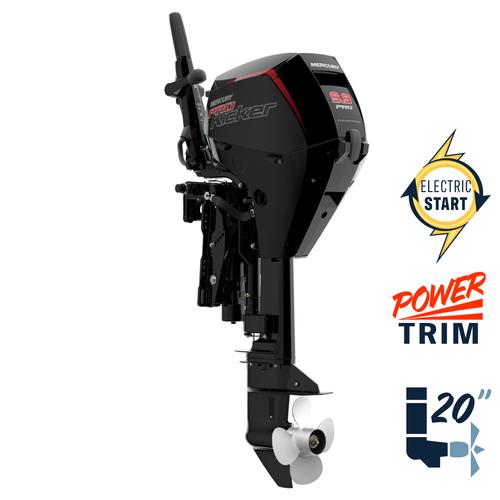 """New Mercury 9.9ELHPT Command Thrust ProKicker 20"""" Shaft Power Trim Four Stroke Tiller Outboard 1F10451KK"""