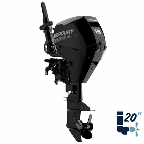 "New Mercury 15MLH EFI 20"" Shaft Electric Start Four Stroke Tiller Outboard 1A15211LK"
