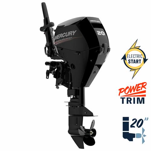 "New Mercury 20ELHPT EFI 20"" Shaft Power Trim Four Stroke Tiller Outboard 1A20411LK"